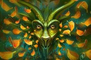 Green Dragon Portrait